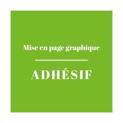 Mise en Page Graphique Adhésif